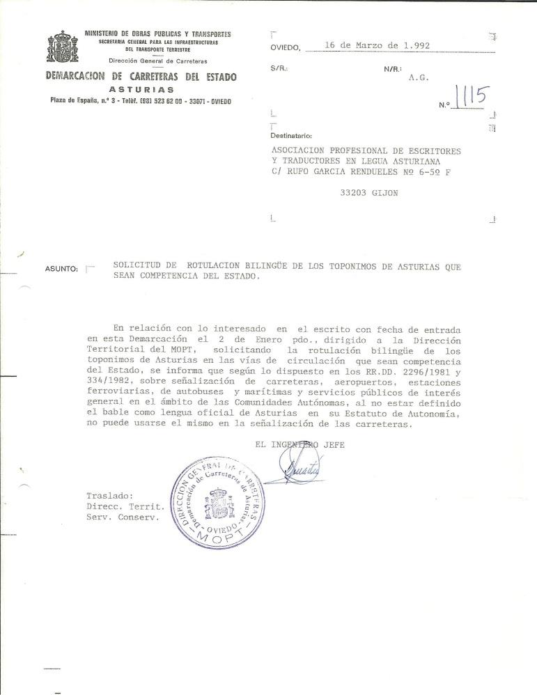 MOPU Asturies 1992