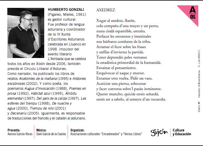 Encuentros poéticos ccai humberto gonzali 2