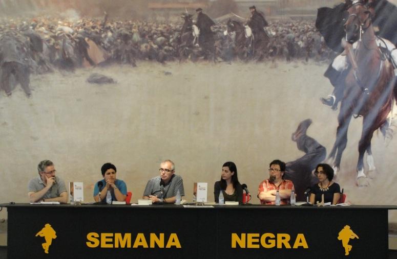 HUMBERTO GONZALI, LAURA MARCOS, ANTÓN GARCÍA, TERESA SOTO, PABLO ANTÓN MARÍN ESTRADA, PAQUITA SUÁREZ-COALLA (Semana Negra - 08/07/2013)